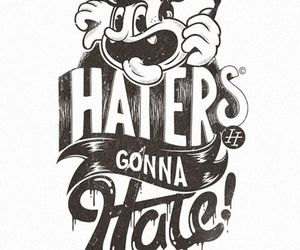 haters, hate, and gonna image