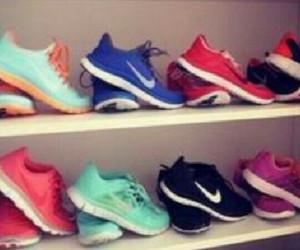 closet, nike, and shoes image