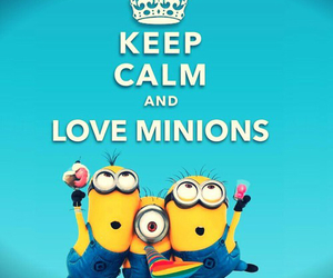 minions, love, and keep calm image
