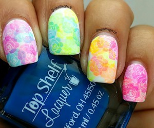 flower, nail, and nail art image