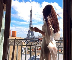 paris, morning, and travel image