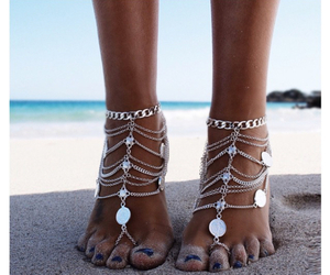 summer, beach, and sand image