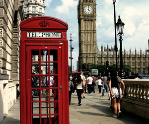 Big Ben, london, and telephone image