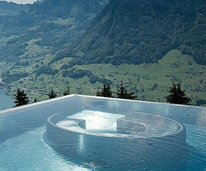 pool, nature, and switzerland image