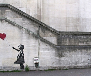 hope, heart, and BANKSY image