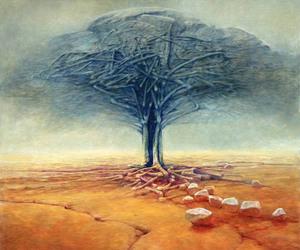 tree and Zdzislaw Beksinski image