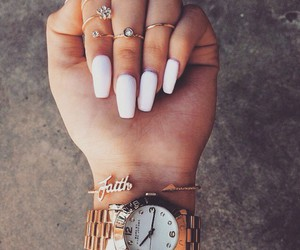 nails, rings, and watch image