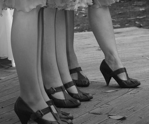 shoes, black and white, and vintage image