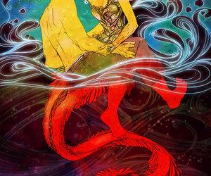 art, illustration, and mermaid image
