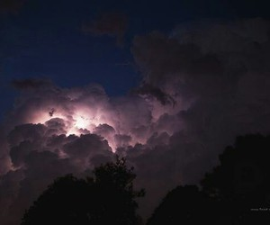 clouds, heat, and lightning image