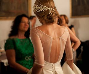 back, style, and gown image