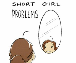 problem, girl, and short image