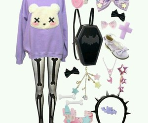outfit, pastel goth, and pastel image