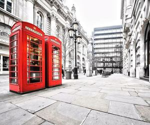london, red, and city image