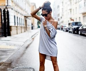 bun, fashion, and gray image