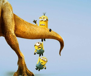 banana, minions, and movie image