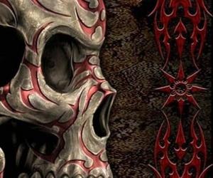 art, skull, and mexican skull image