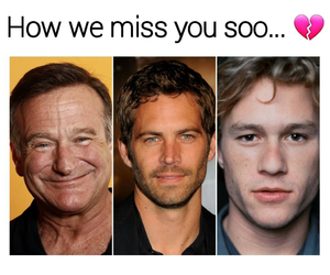 actors, heath ledger, and miss you image