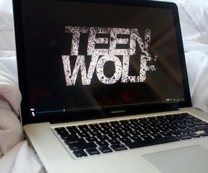teen wolf and laptop image