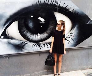 girl, fashion, and eye image
