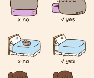 pusheen, cat, and sleep image