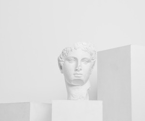 man, statue, and pale image