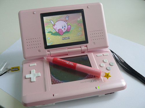kirby, pink, and nds image