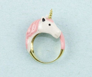 unicorn, ring, and pink image