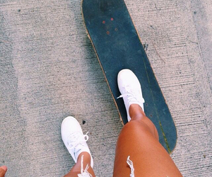 summer, skateboard, and blue image