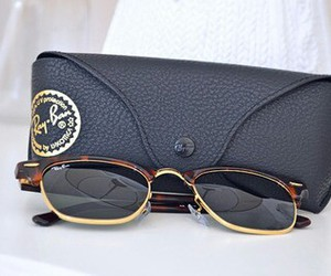 ray ban, sunglasses, and black image