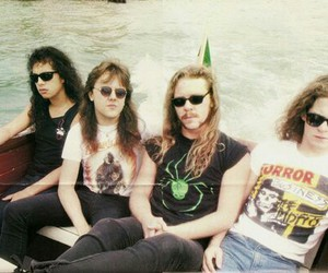 James Hetfield, Jason Newsted, and kirk hammett image