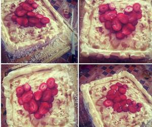 cake, cherry, and heart image