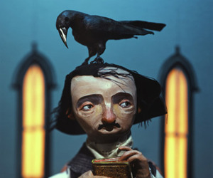 edgar allan poe and crow image