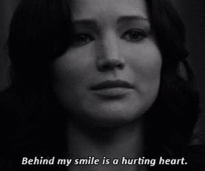 alone, black and white, and Jennifer Lawrence image