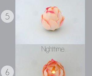 diy, flowers, and light image