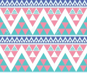 pink, aztec, and blue image
