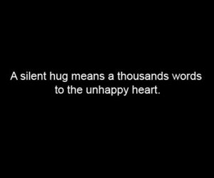 hug, quote, and heart image