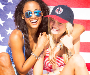 america, stars and stripes, and friends image