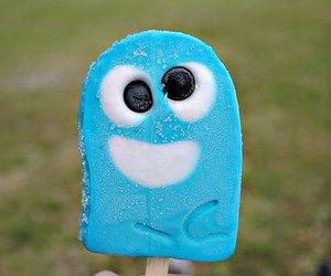 blue, ice cream, and food image