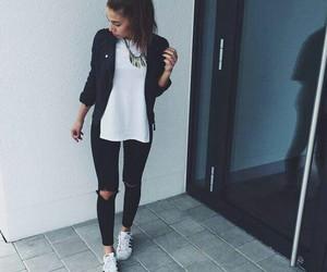 adidas, black, and mode image