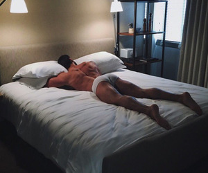 boy, Hot, and bed image