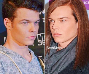 before and after, long hair, and short hair image