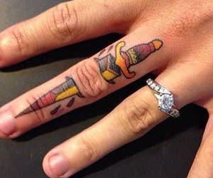 tattoo and finger image