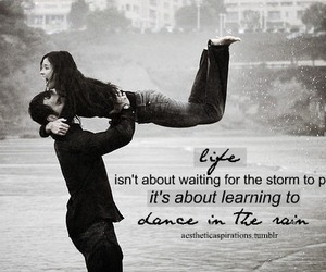 love, black and white, and dance image