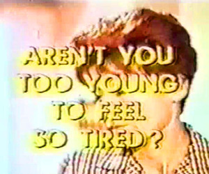 tired, young, and text image
