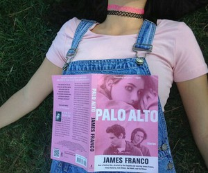 pink, book, and grunge image