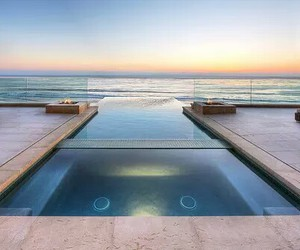 chic, pool, and sea image