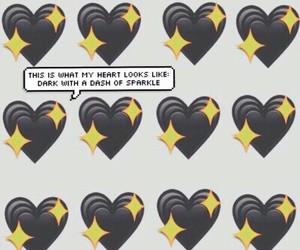 black, heart, and emoji image