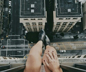 boots, buildings, and girl image