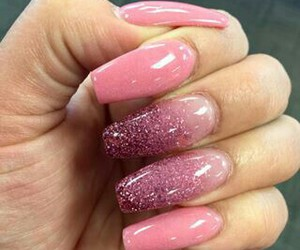 glitter, nails, and pink image